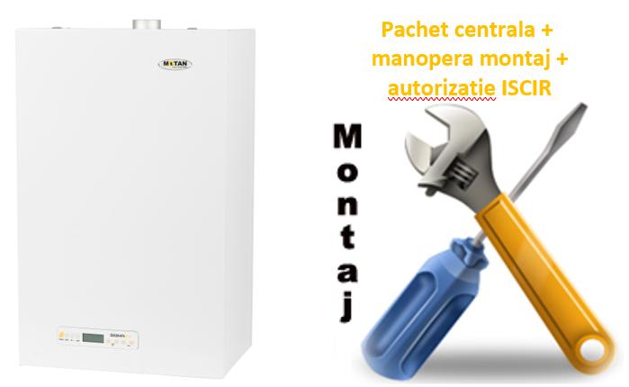 Pachet centrala termica conventionala Motan Clasic 24 - 24 KW cu manopera montaj si autorizare ISCIR