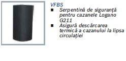 Serpentina VFBS de racire cazan lemne fonta Buderus Logano G211