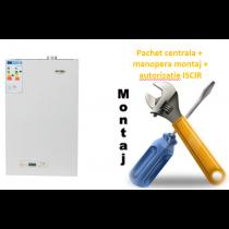 Pachet centrala termica conventionala Motan KPlus 24 - 24 KW cu manopera montaj si autorizare ISCIR