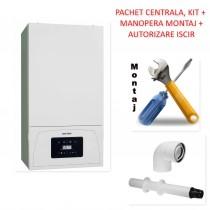 Pachet centrala condensatie Motan Condens 050 24 - 24 KW model 2021 cu manopera montaj si autorizare ISCIR