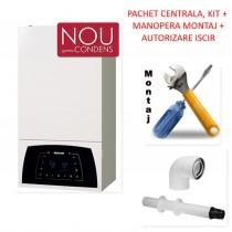 Pachet centrala condensatie Motan Condens Plus 100 - 25 KW cu manopera montaj si autorizare ISCIR