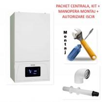 Pachet centrala condensatie Motan Condens 100 - 25 KW cu manopera montaj si autorizare ISCIR