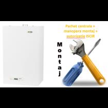 Pachet centrala termica conventionala Motan Sigma 24 - 24 KW cu manopera montaj si autorizare ISCIR